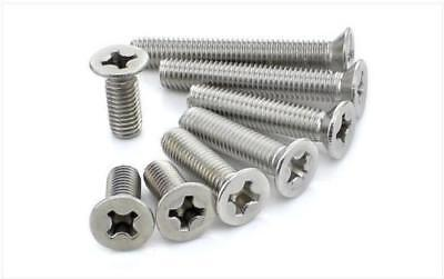 M2/M2.5/M3 304 Stainless Steel Phillips Cross Countersunk Head Screws Bolt GB819