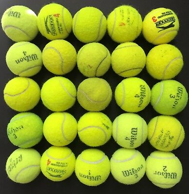 25 Used Tennis Balls - Great For Kids, Dogs, Backyard Games, Beach Etc