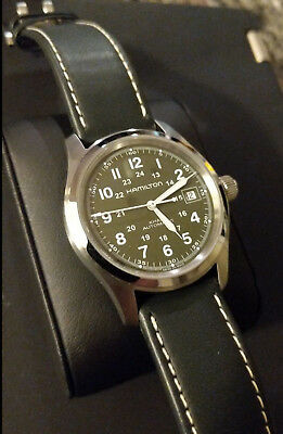 free shipping 80fb2 6abbc HAMILTON KHAKI FIELD Auto | Dark-Green | Display Back | H70455863