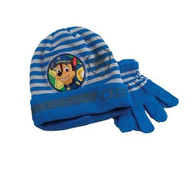 Paw Patrol Knitted Blue Navy Winter Hat & Gloves Set Toddlers Boys One Size