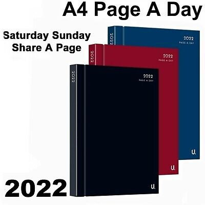 2019 Diary A4 A5 hard back Page A Day or Week To View office appointment student
