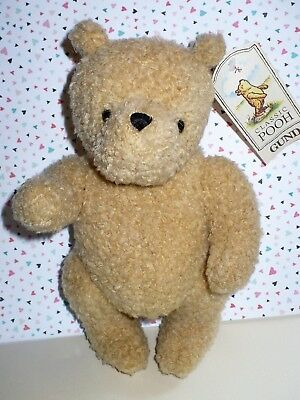"""Gund Disney Classic 10"""" Jointed Sweater Pooh Bear With Tag Vgc"""