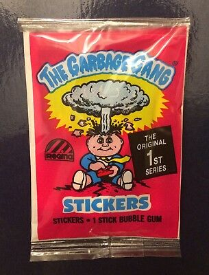 1988 Australia Garbage Pail Kids Series 1 new pack~The Garbage Gang~Mint~V Rare