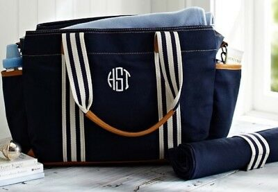 Sale! $100 Pottery Barn Classic Navy Diaper Bag Retail Price $149
