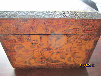 OLD Wooden carved Trinket Box FLEMISH 695 Antique RARE Collection Vintage