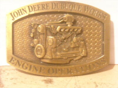 * John Deere Dubuque Works Engine Operations Limited Ed. Belt Buckle #456/500