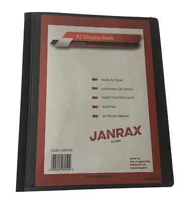 A5 20 Pocket Presentation Display Book - Ideal for Menus, Reports, Hymn etc