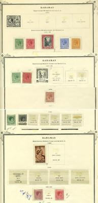 Bahamas - 12 Stamps 1921 - 1952 - Mint - Some Hinged & Some Mounted - On Sheets
