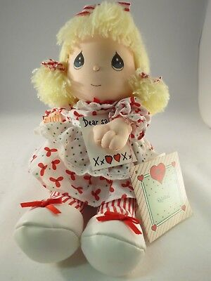 "1990 Precious Moments Musical Doll by Applause ""Annalise"" - Christmas - with Tag"