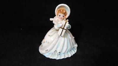 VTG 1960's Josef Originals Girl with Gift Porcelain Figurine REPAIRED