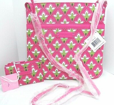 NWT Vera Bradley 2 pc set/lot Slim Trim Hipster & Slim Coin Purse PETITE PINK