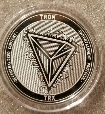 Tron TRX 1 oz .999 silver commemorative coin crypto currency bitcoin btc eth NEW