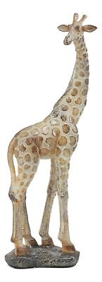 "Large Standing Giraffe Statue With Mosaic Glass Prints 11"" Tall Figurine"