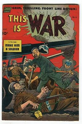 This is War #6 violent cover. Toth art. VG/F sharp!