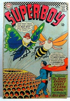 "DC Comics: SUPERBOY #127 G (1966) ""The Seven Insect Lives of Lana Lang"""