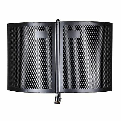2 Fold Design Microphone Isolation Shield Studio Recording Absorber Foam Panel