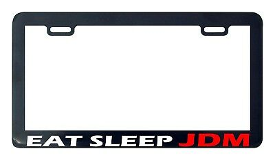 EAT SLEEP JDM wakaba leaf License Plate Frame