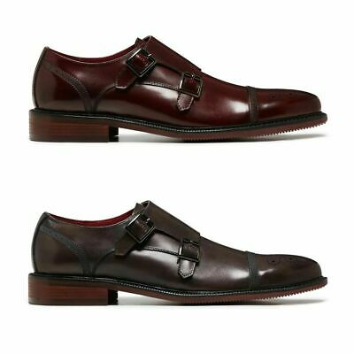 Mens Julius Marlow Dare Men'S Brown Bordo Red Leather Work Loafer Formal Shoes