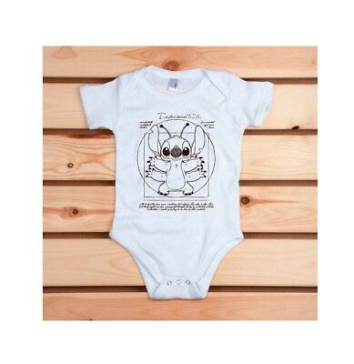 Craquant Body Pampling  STITCH  100% coton  neuf   12/18mois