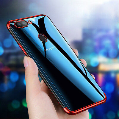 For OPPO F9 F7 F5 F3 A83 A73 Shockproof Slim Soft Electroplate TPU Case Cover