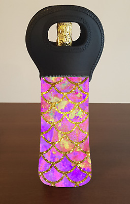 Mermaid Wine Bottle Cooler Carry Bag
