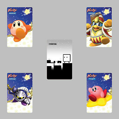 Kirby Star Allies & BoxBoy QBBY 5PCS PVC NFC Tag Game Cards for Switch/Wii U