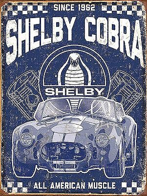 Shelby Cobra , Retro metal Aluminium Sign Vintage Garage shed Man Cave wall
