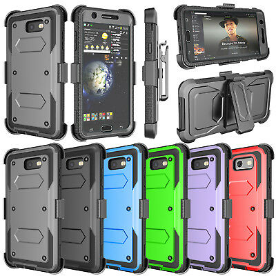Belt Clip Kickstand Holster Case For Samsung Galaxy J3 J7 2018 J7 Prime Sky Pro