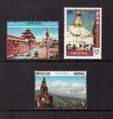 Nepal MNH 1970 Tourism and Buddhist Shrine  mint set stamps
