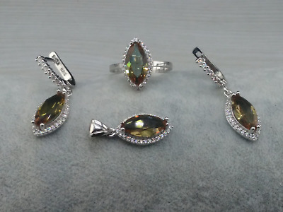 AAA Quality 925 Sterling Silver Jewelry Alexandrite ( Color Change ) Full Set