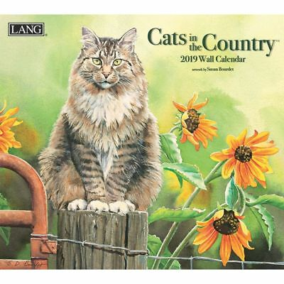 NEW Cats in The Country Susan Bourdet 2019 Lang Wall Calendar Packed Well