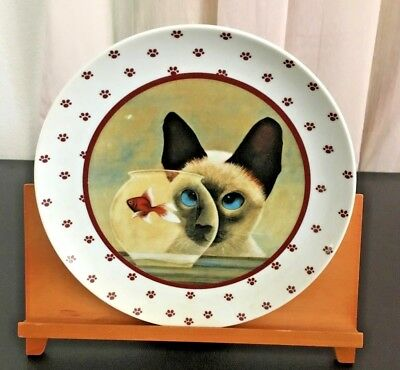 Vintage SIAMESE CAT Collector's Plate 1986 Lowell Hererro Made In Japan Vandor