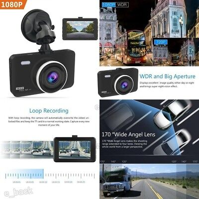 "US,Dash Cam, Crosstour 1080P Car DVR Dashboard Camera Full HD with 3"" LCD Screen"
