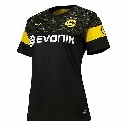 Official BVB Borussia Dortmund Football Away Shirt Jersey Tee Top 2018 19 Womens
