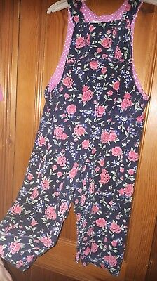 Jojo maman bebe dungaress 18-24 months pretty floral cord flowers
