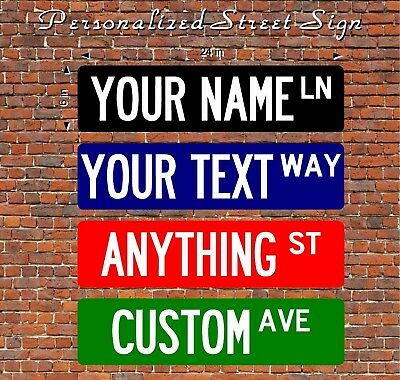 """NEW 6"""" x 24"""" Make Your Own Personalized Custom Vinyl Sticker Street Sign"""
