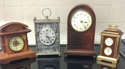 A Job Lot Of Vintage & Miniature Clocks All In Working Order