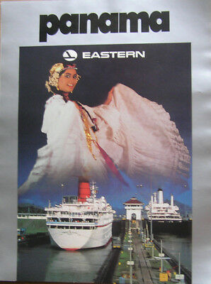 """Vintage Eastern Airlines 15"""" x 20"""" Poster of Panama"""