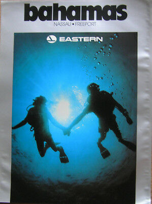 """Vintage Eastern Airlines 15"""" x 20"""" Poster of Bahamas"""