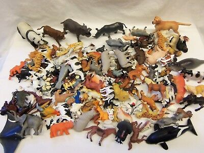 Large 5+ lbs Lot of PLASTIC TOY ANIMALS