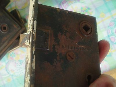 Antique Victorian Sargent & Co. Matchbox Brass Door Lock