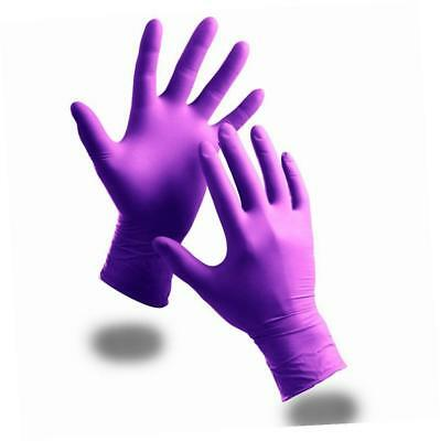 100 x Extra Strong Powder Free Purple Nitrile Disposable Gloves (XL)