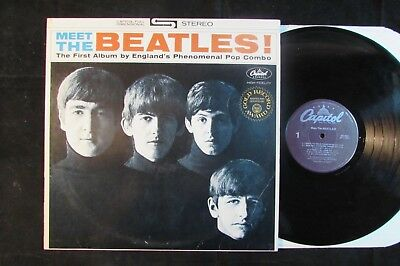 THE BEATLES Meet CAPITOL US RE ISSUE LP (purple label)