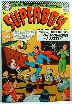 "DC Comics: SUPERBOY #134 G/VG (1966) ""The Scoundrel of Steel!"""