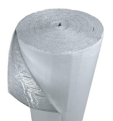 """IES 16"""" x 100' White Double Bubble Reflective Foil Insulation Thermal Barrier R8"""