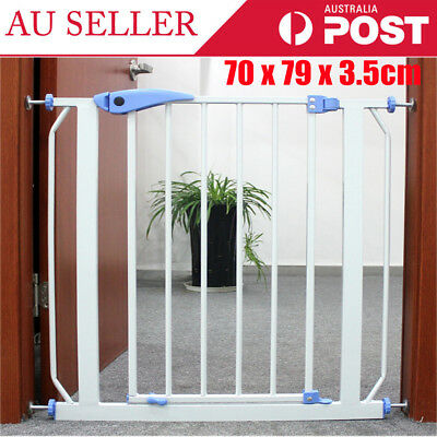 Baby Gate Safety Fence Child Protection Door Dog Cat Pet Barrier For 75-84cm NEW