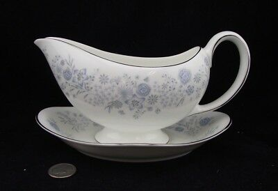 Wedgwood Belle Fleur Gravy Boat And Underplate