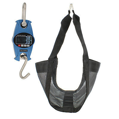 Rural365 | Blue Digital Hanging Scale & Calf Sling – Mini Crane Scale & Sling