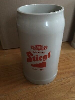 Stiegl Austria 1L Beer Stein Brand New From Brewery