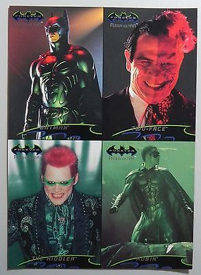 "1995 Promo Sheet 5"" x 7"" Fleer Ultra BATMAN FOREVER"